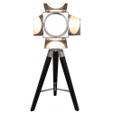 Black Wood Directors Photo luminaire Table Lamp
