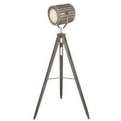 Grey Hollywood Directors Tripod Floor Lamp