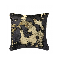 Black & Gold Two Tone Sequin Siren Cushion