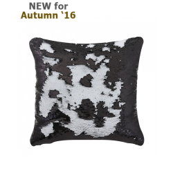 Black & white Two Tone Sequin Siren Cushion