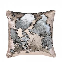 Copper & Silver Two Tone Sequin Siren Cushion
