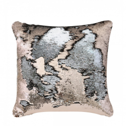 Copper & Silver Two Tone Sequin Siren Cushion