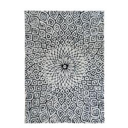 Large Charcoal Grey Woollen Bohemian Rug
