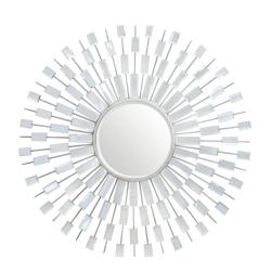 Sunburst Silver Wall Mirror