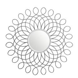 Silver Marrakech Scroll Wall Mirror