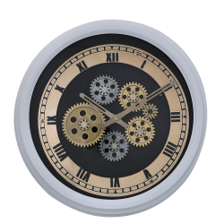 White Gears Style Skeleton Wall Clock