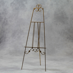 Antiqued Gold Metal Easel