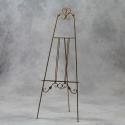Antiqued Gold Metal Floor Standing Easel