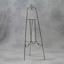 Antiqued Silver Metal Easel