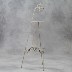 Antiqued White Metal Easel