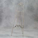 Antiqued White Floor Standing Metal Easel