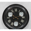 Black & Gold Face Multi Dial Wall Clock