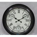 Multi Dial Wall Clock With White Face