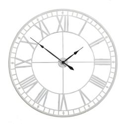 Large Antique Cream Skeleton Clock