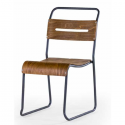 Metal and Wood Stacking Chair