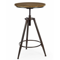 Camden Metal and Wood Industrial Bar Table