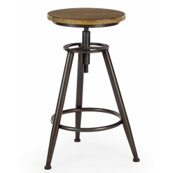 Camden Metal and Wood Industrial Bar Stool