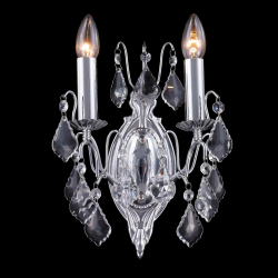 Chrome French Sconce with Chromed Crystals