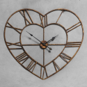 Gold Heart Shaped Skeleton Clock