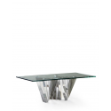 Stainless Steel and Glass Turin Coffee Table