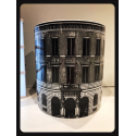 Black and White Architectural Design Round Pot