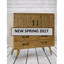 Retro Wooden Bar Cabinet/ Chest