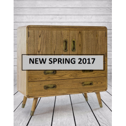 Retro Wooden Bar Cabinet/ Chest