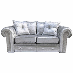 Silver Canterbury 2 Seater Sofa