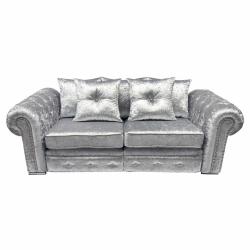 Silver Canterbury 3 Seater Sofa