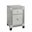Fabiamma Mirror 2 Drawer Bedside Cabinet