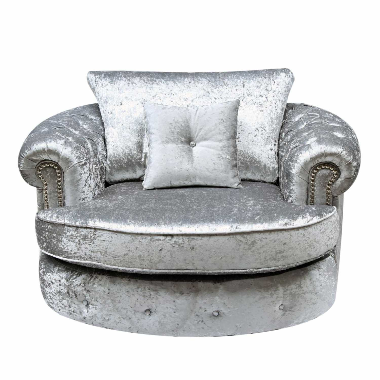 canterbury silver swivel sofa chair canterbury silver swivel sofa