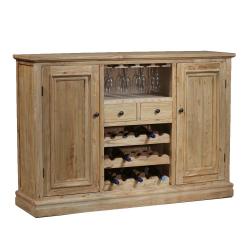 Reclaimed Elm Large Sideboard Wine Rack