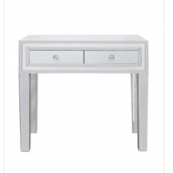 White Manhat 2 Drawer Console Table