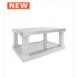Large White Manhat Coffee Table