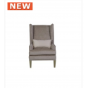 Light Taupe Glamour Jewel High Back Chair