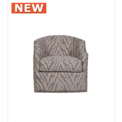 Light Taupe Glamour Jewel 1 Seat Swivel Chair