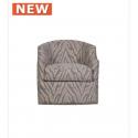 Light Taupe Glamour Jewel 1 Seat Swivel Chair