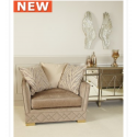 Light Taupe Glamour Jewel 1 Seat Chair