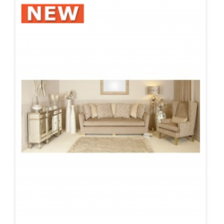 Light Taupe Glamour Jewel 2 Seat Love Seat