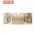 Light Taupe Glamour Jewel 2 Seat Love Seat