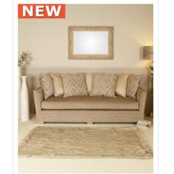 Light Taupe Glamour Jewel 3 Seat Sofa