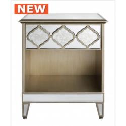 Morocco 1 Drawer Mirror Bedside Cabinet