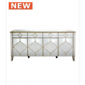 Morocco 4 Drawer 4 Door Mirror Sideboard
