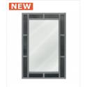Smoked Millanno Crystal Brick Effect Wall Mirror