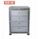 Smoked Millanno Mirror 4 Drawer Cabinet