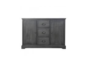 Grey Deltia 3 Drawer 2 Door Sideboard