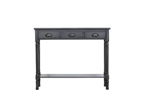 Grey Deltia Medium 3 Drawer Console Table