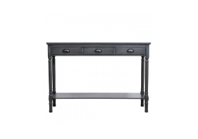 Grey Deltia Large 3 Drawer Console Table
