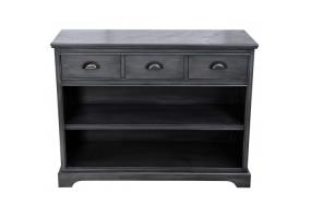 Grey Deltia 3 Drawer 2 Shelf Unit