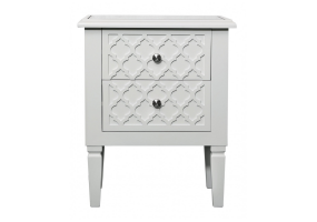 Cassidy White Wood Bedside Cabinet